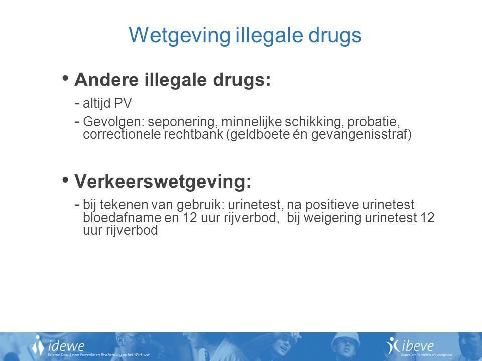 Wetgeving illegale drugs