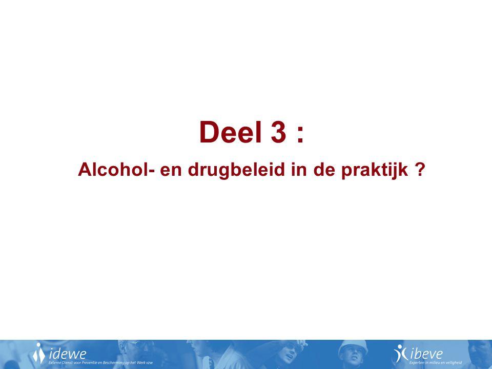 Alcohol- en drugbeleid in de praktijk