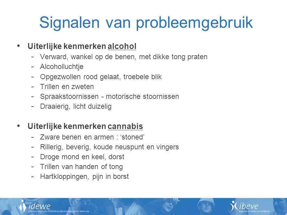 Signalen van probleemgebruik