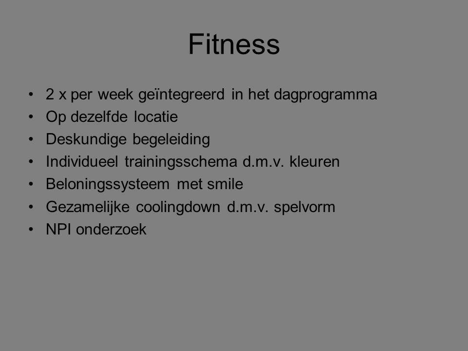 Fitness 2 x per week geïntegreerd in het dagprogramma