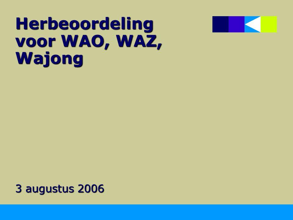 Herbeoordeling voor WAO, WAZ, Wajong