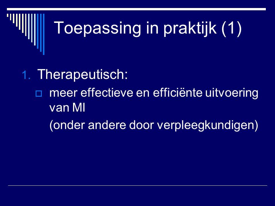 Toepassing in praktijk (1)