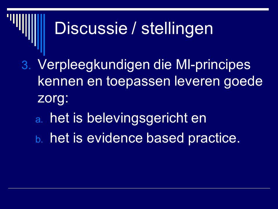 Discussie / stellingen