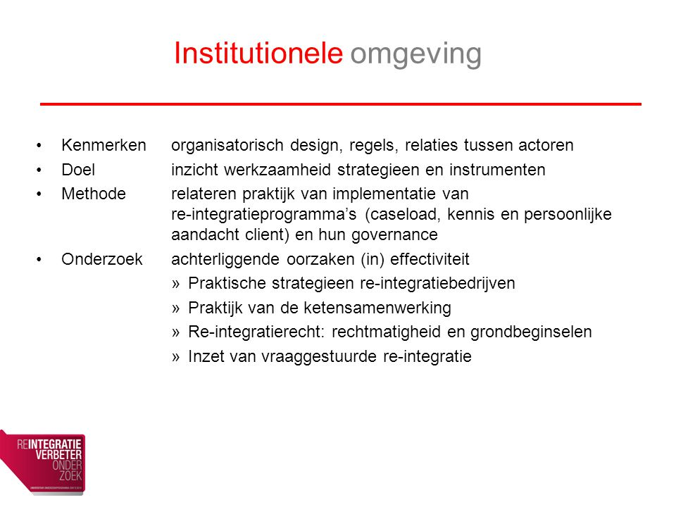 Institutionele omgeving
