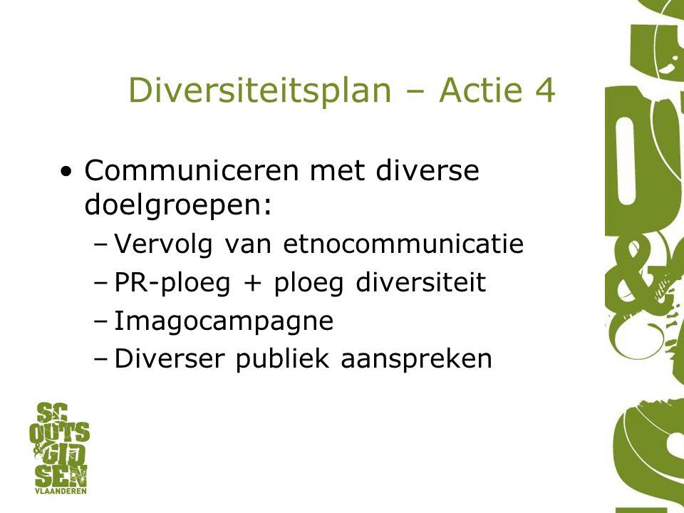 Diversiteitsplan – Actie 4