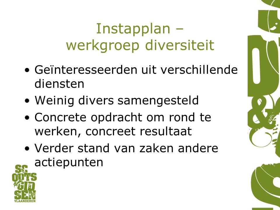 Instapplan – werkgroep diversiteit