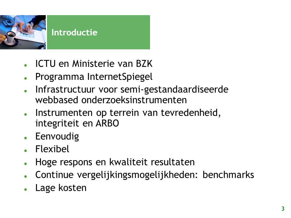ICTU en Ministerie van BZK Programma InternetSpiegel