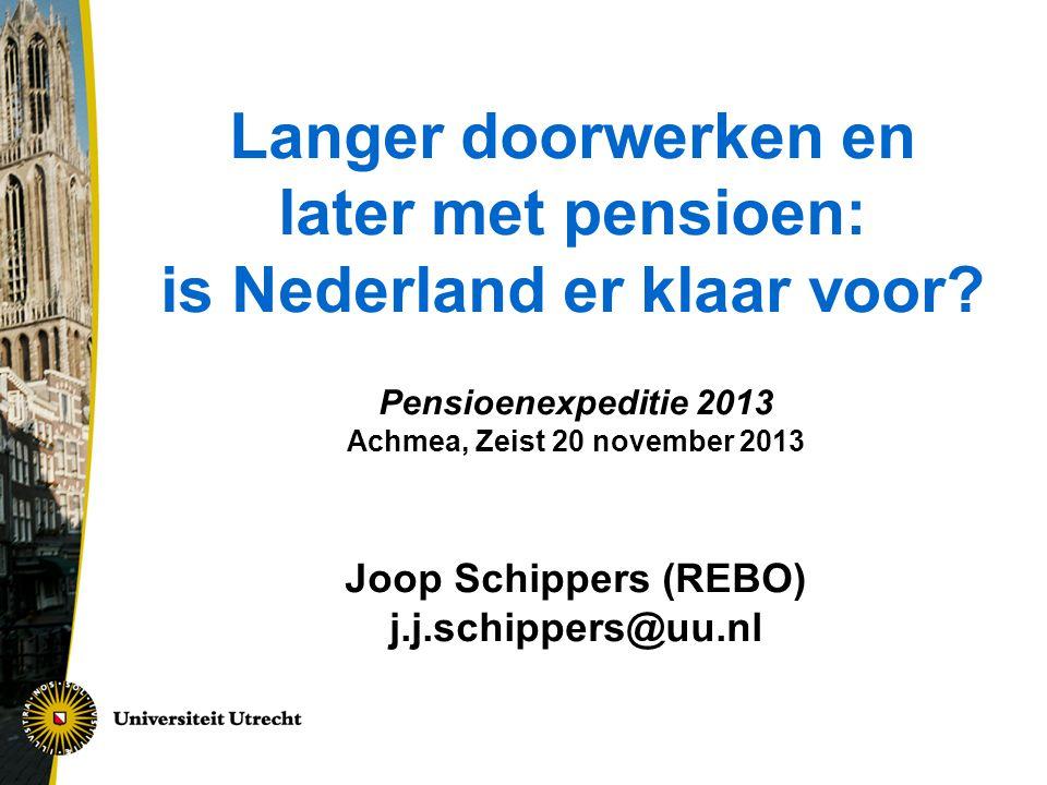 Langer doorwerken en later met pensioen: is Nederland er klaar voor