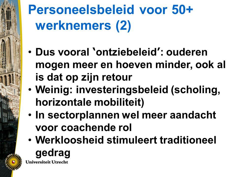 Personeelsbeleid voor 50+ werknemers (2)
