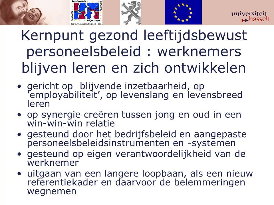 Kernpunt gezond leeftijdsbewust personeelsbeleid : werknemers blijven leren en zich ontwikkelen