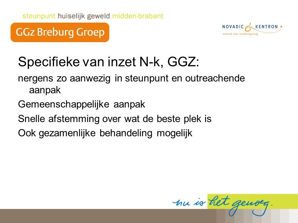 Specifieke van inzet N-k, GGZ: