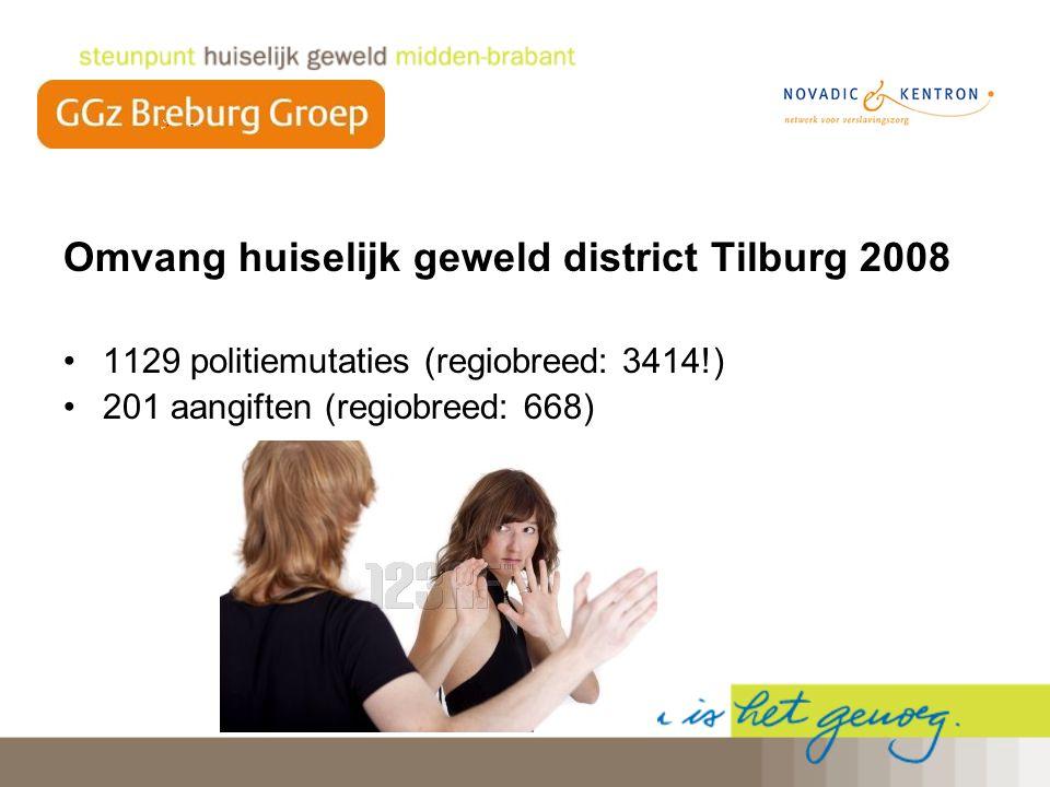Omvang huiselijk geweld district Tilburg 2008