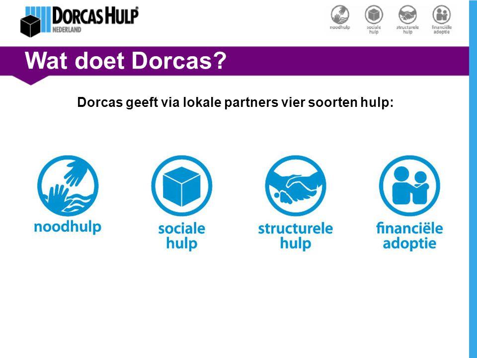Dorcas geeft via lokale partners vier soorten hulp: