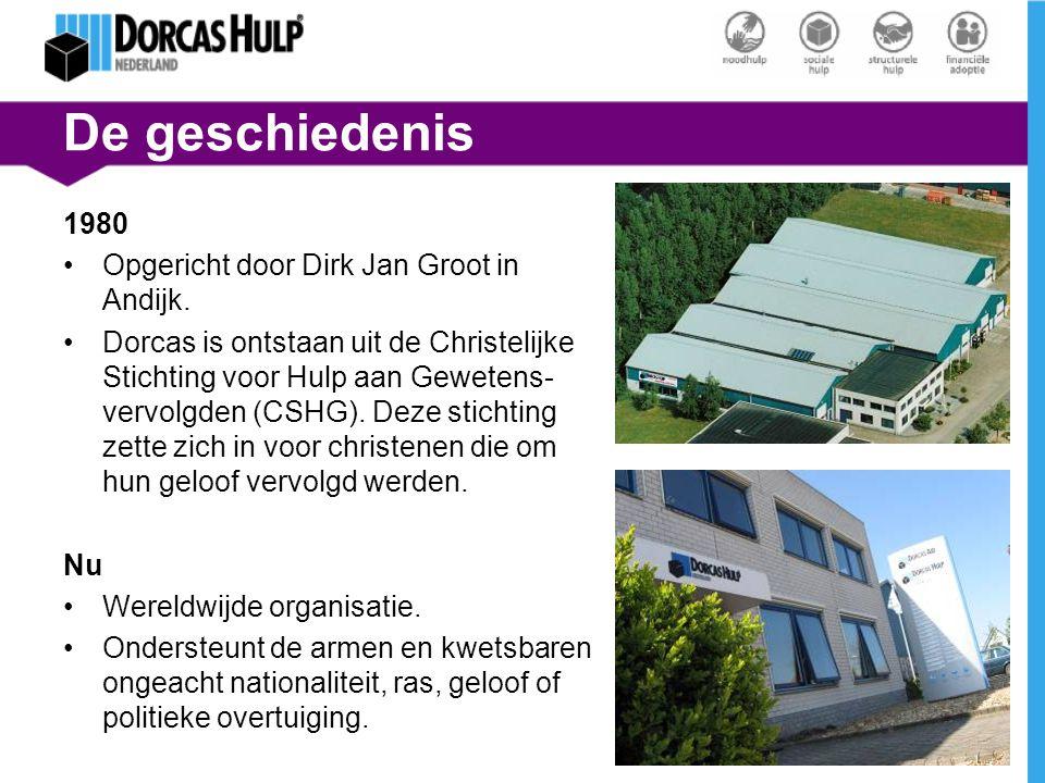 De geschiedenis 1980 Opgericht door Dirk Jan Groot in Andijk.
