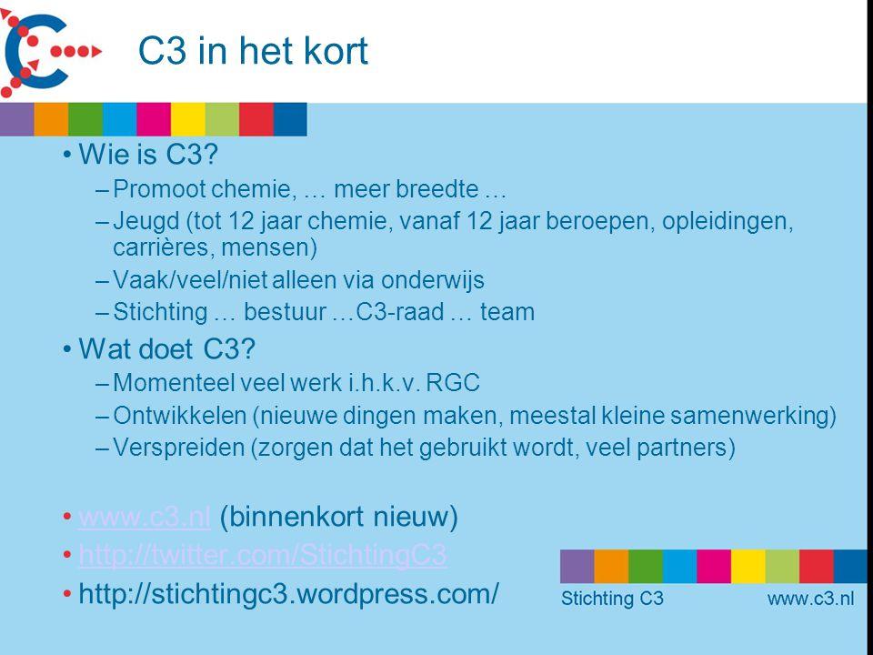 C3 in het kort Wie is C3 Wat doet C3 www.c3.nl (binnenkort nieuw)