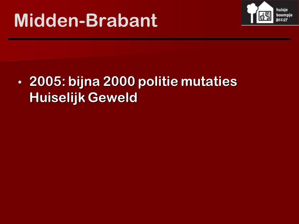 Midden-Brabant 2005: bijna 2000 politie mutaties Huiselijk Geweld