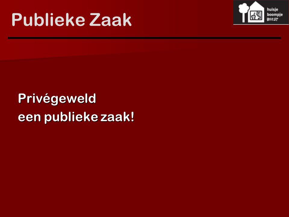 Publieke Zaak Privégeweld een publieke zaak!