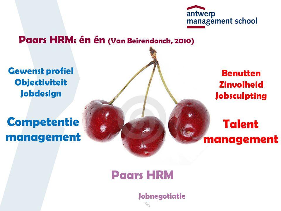 Paars HRM: én én (Van Beirendonck, 2010)