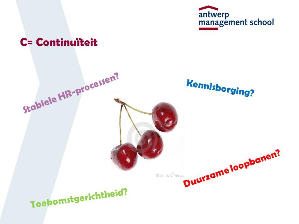 C= Continuïteit Stabiele HR-processen Kennisborging