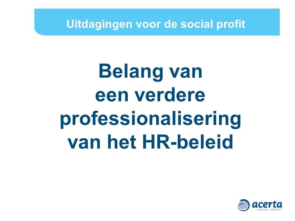 Uitdagingen voor de social profit een verdere professionalisering