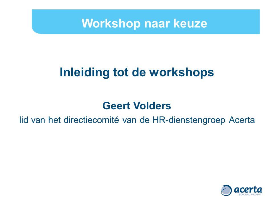 Inleiding tot de workshops