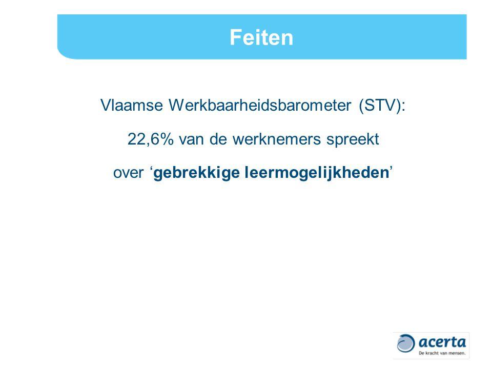 Feiten Vlaamse Werkbaarheidsbarometer (STV):