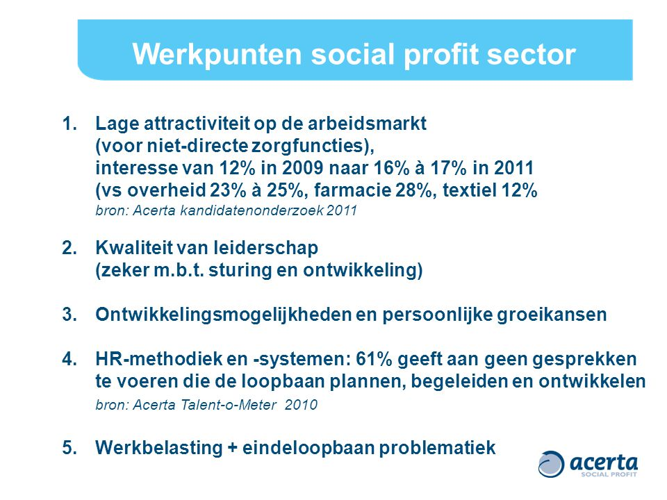 Werkpunten social profit sector