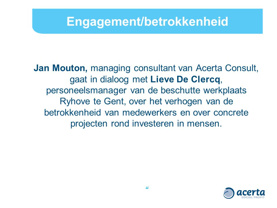 Engagement/betrokkenheid