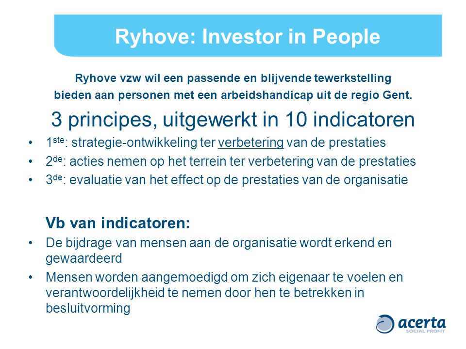 Ryhove: Investor in People