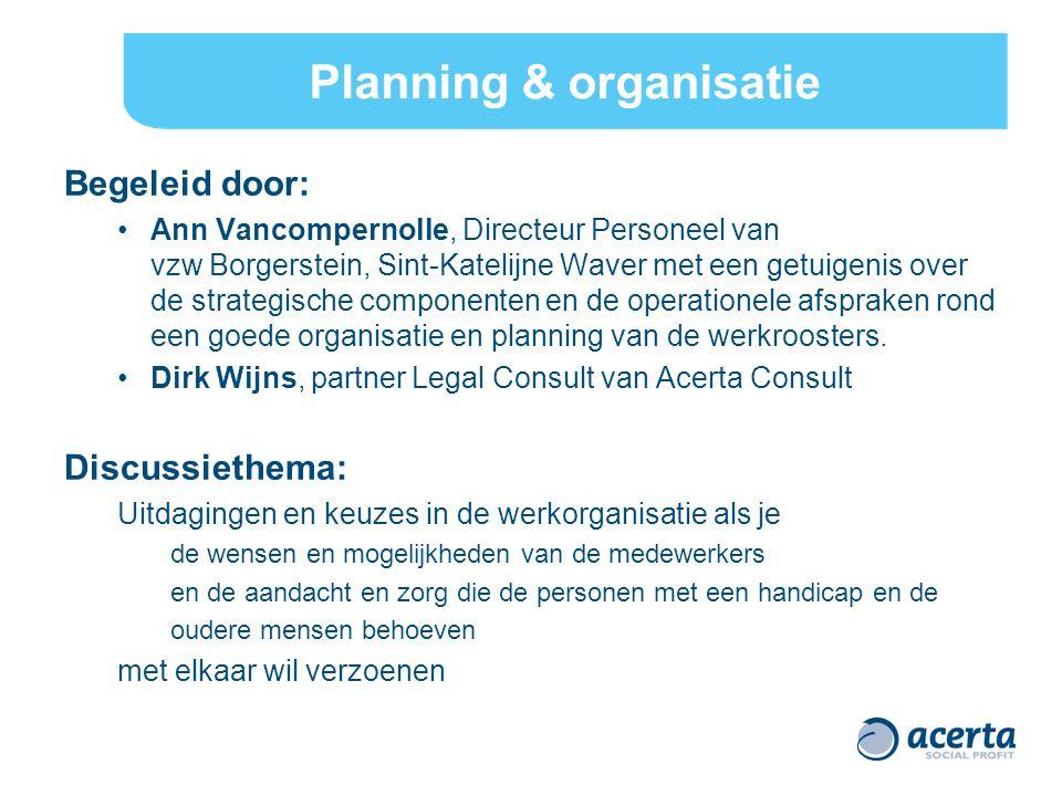 Planning & organisatie