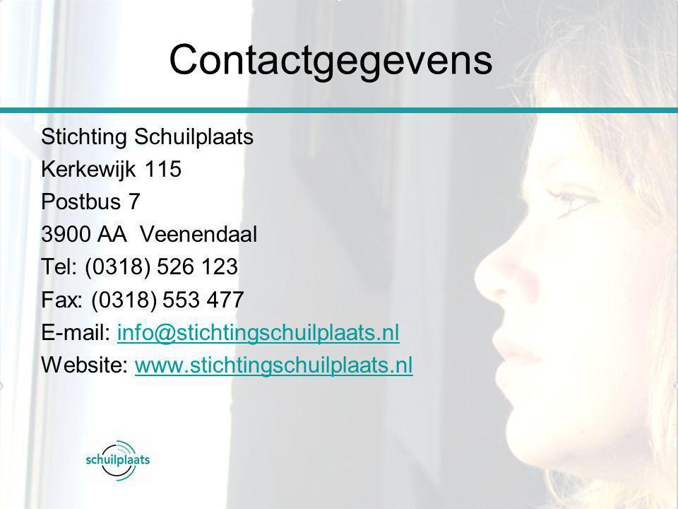 Contactgegevens Stichting Schuilplaats Kerkewijk 115 Postbus 7