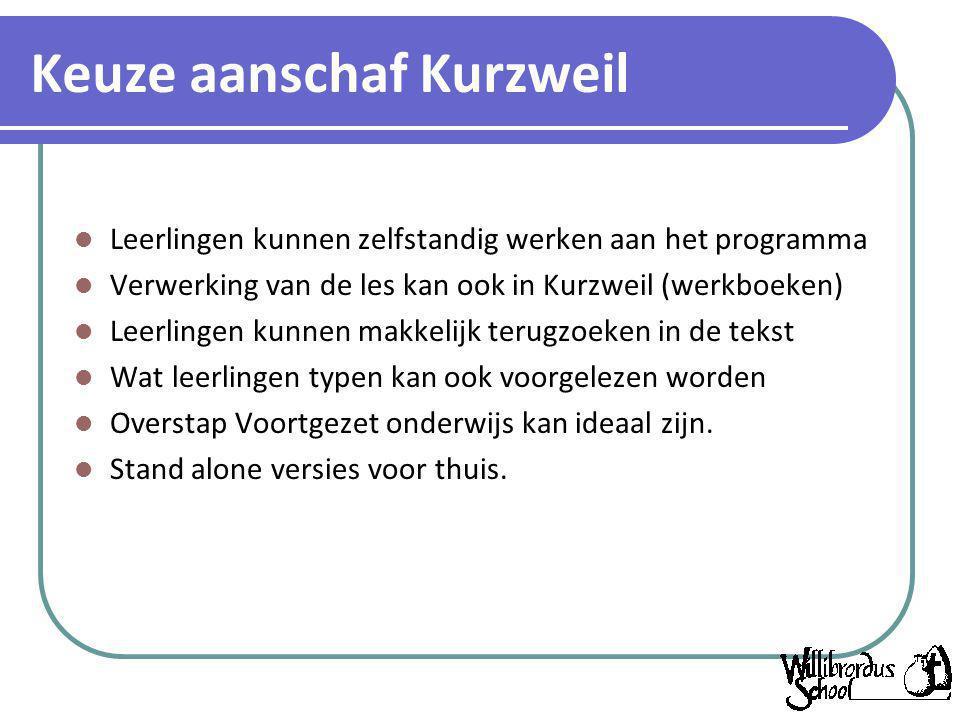 Keuze aanschaf Kurzweil