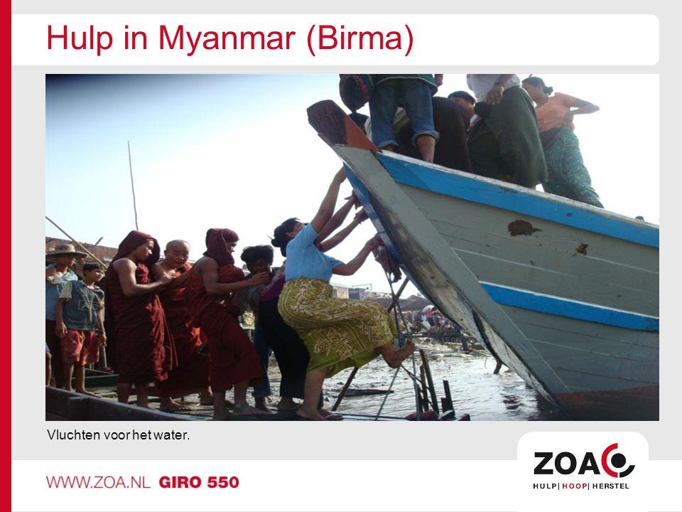 Hulp in Myanmar (Birma)