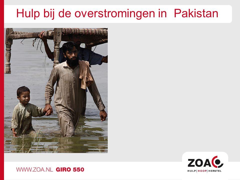 Hulp bij de overstromingen in Pakistan