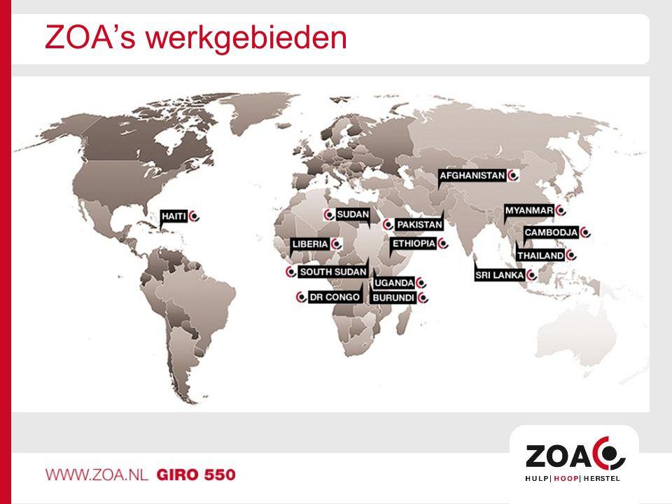 ZOA's werkgebieden