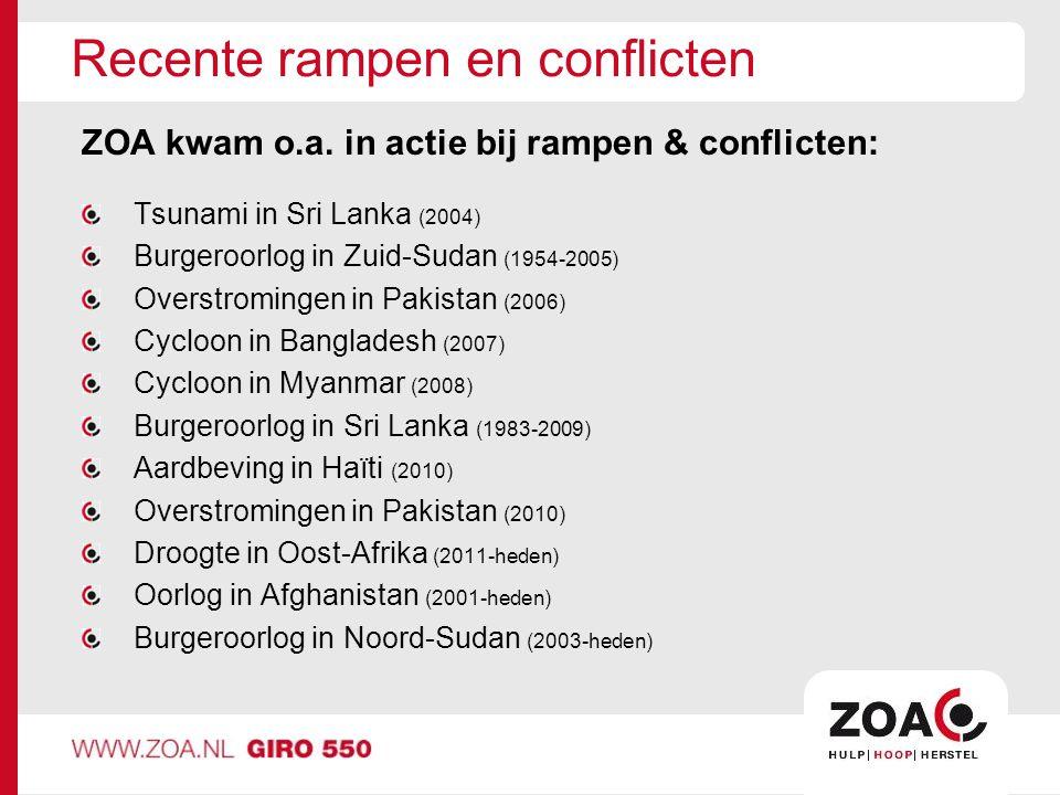 Recente rampen en conflicten