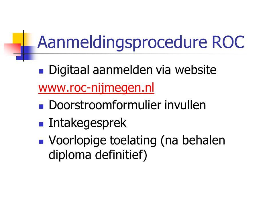 Aanmeldingsprocedure ROC