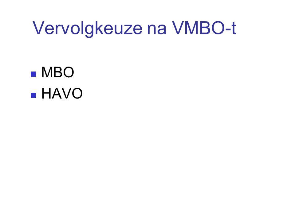 Vervolgkeuze na VMBO-t