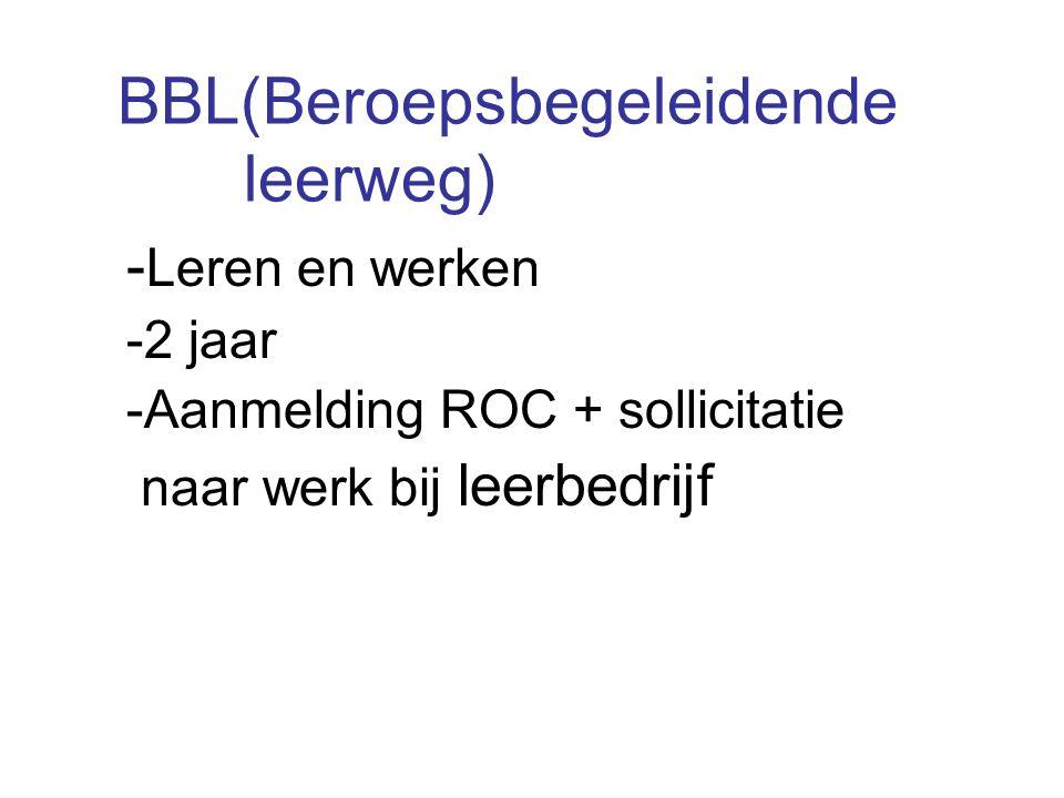 BBL(Beroepsbegeleidende leerweg)