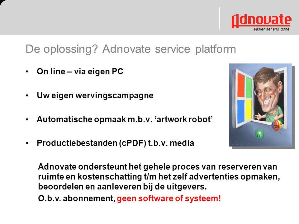 De oplossing Adnovate service platform