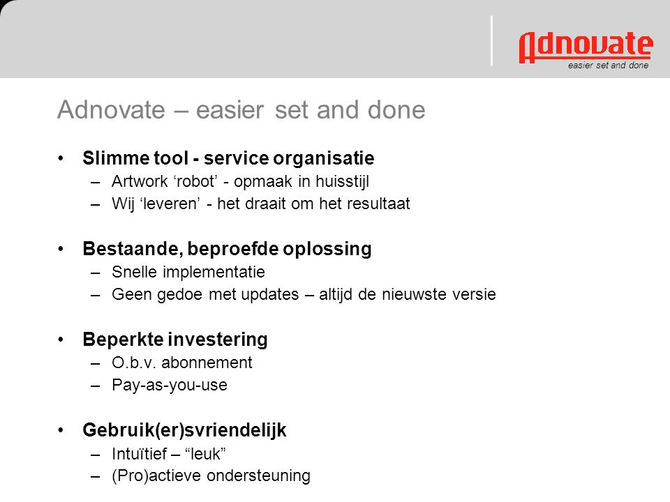Adnovate – easier set and done