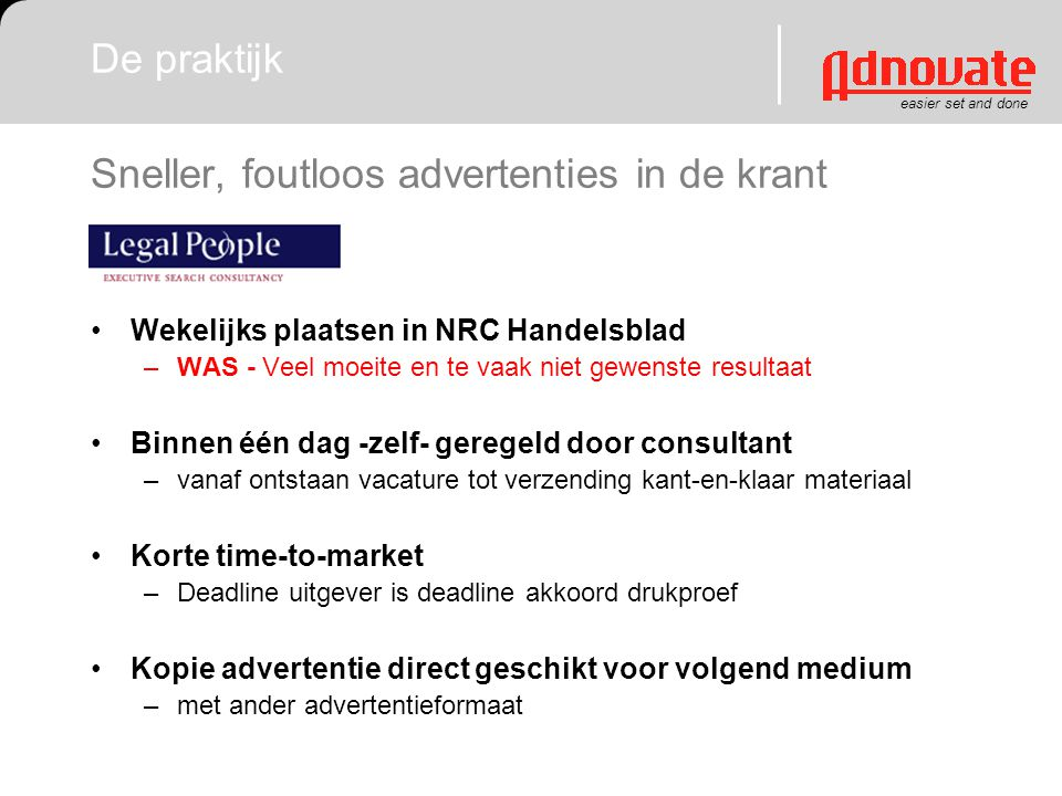 Sneller, foutloos advertenties in de krant