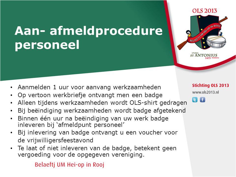 Aan- afmeldprocedure personeel