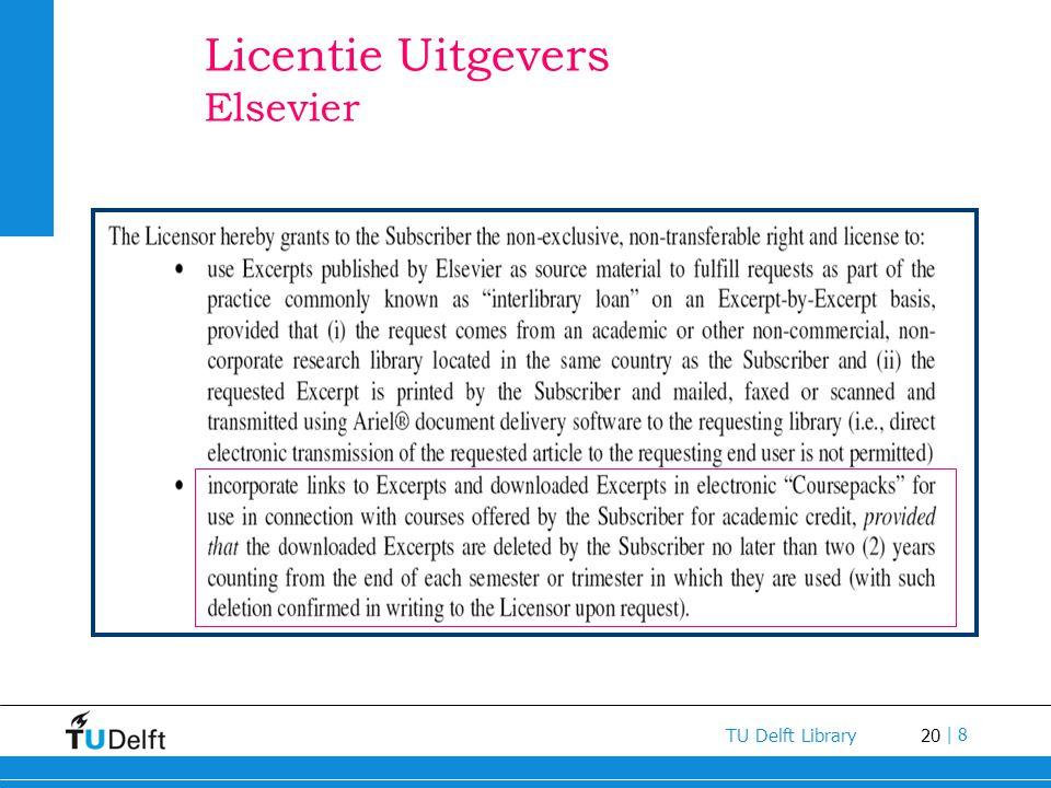 Licentie Uitgevers Elsevier