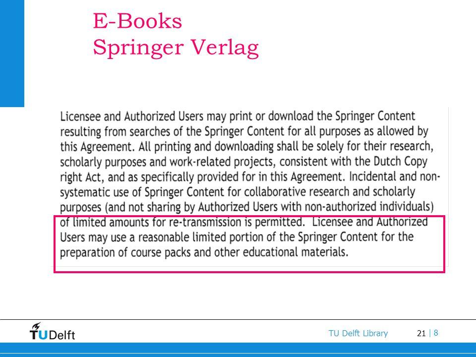 E-Books Springer Verlag