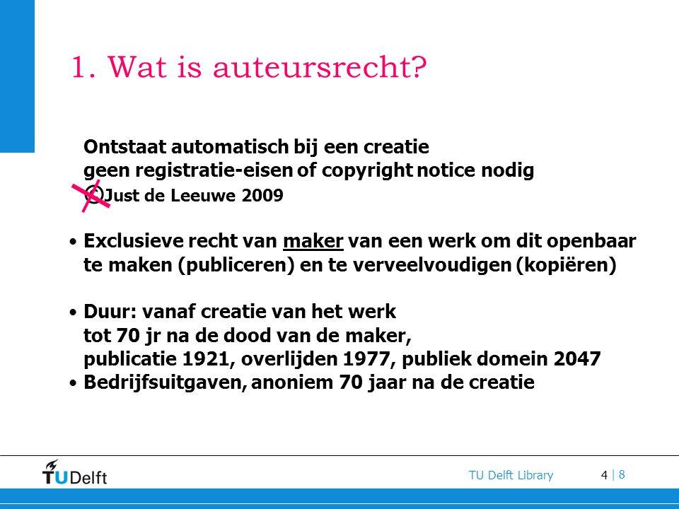 1. Wat is auteursrecht Ontstaat automatisch bij een creatie