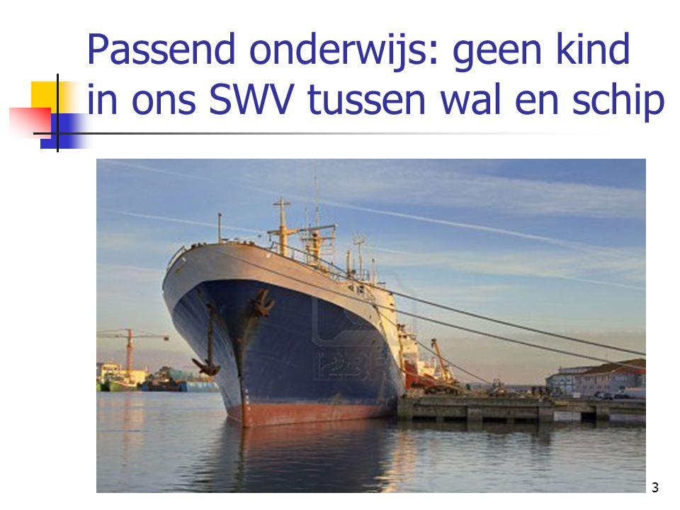 Passend onderwijs: geen kind in ons SWV tussen wal en schip