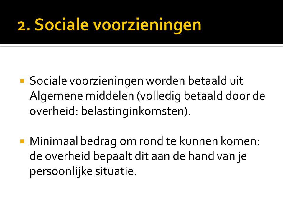 2. Sociale voorzieningen