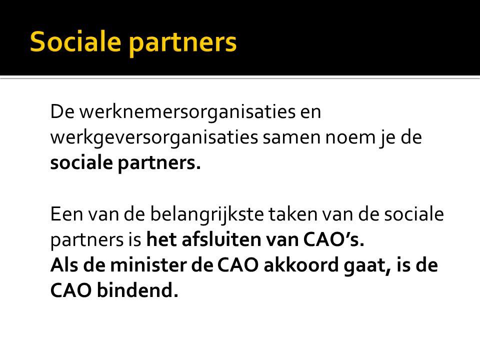 Sociale partners