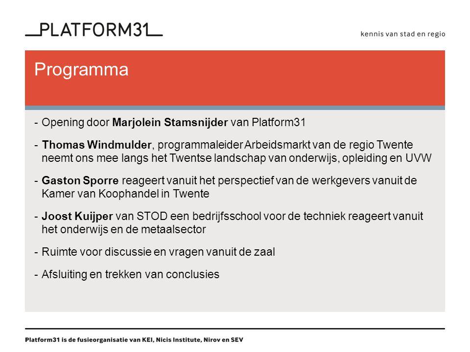 Programma Opening door Marjolein Stamsnijder van Platform31
